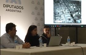 "María LEdezma, Fernando Dalmasso y Lucas Deniro (PRIE/SENADO), expusieron el ""PLan Maestro Palacio Legislativo 2015""."