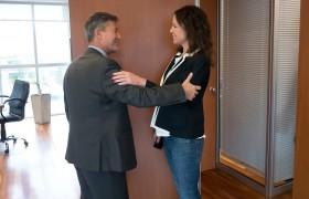Carlos Greco junto a Carolina Stanley