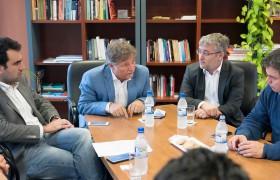 De izq. a der.: Sebastián Welisiejko, Mario Greco, Diego Kampel y Santiago López Medrano
