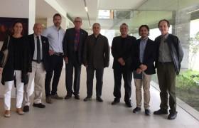 Miembros de ASHRAE y autoridades del Instituto de Arquitectura