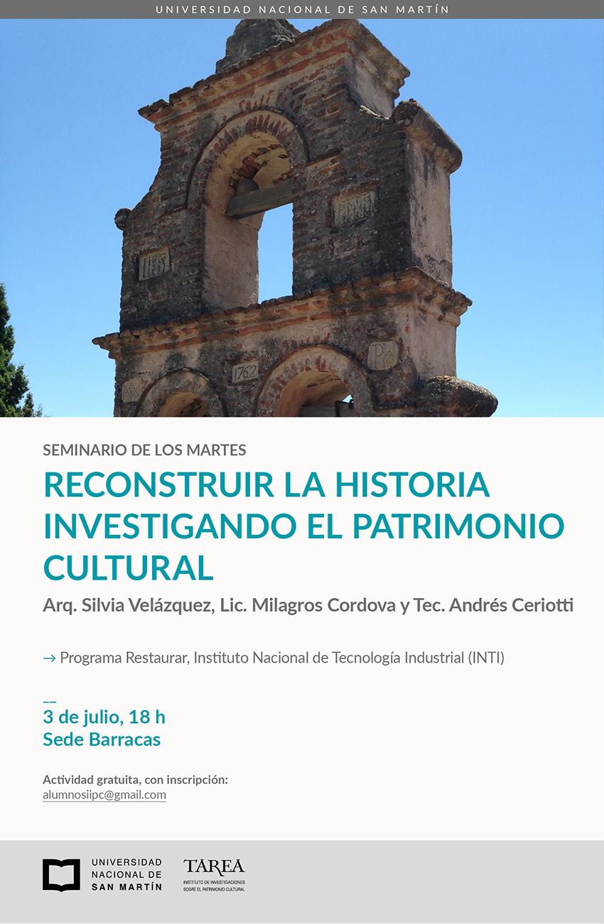 Seminario: Reconstruir la historia investigando el patrimonio cultural.
