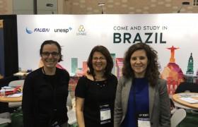 Valeria Pattacini con colegas de Brasil