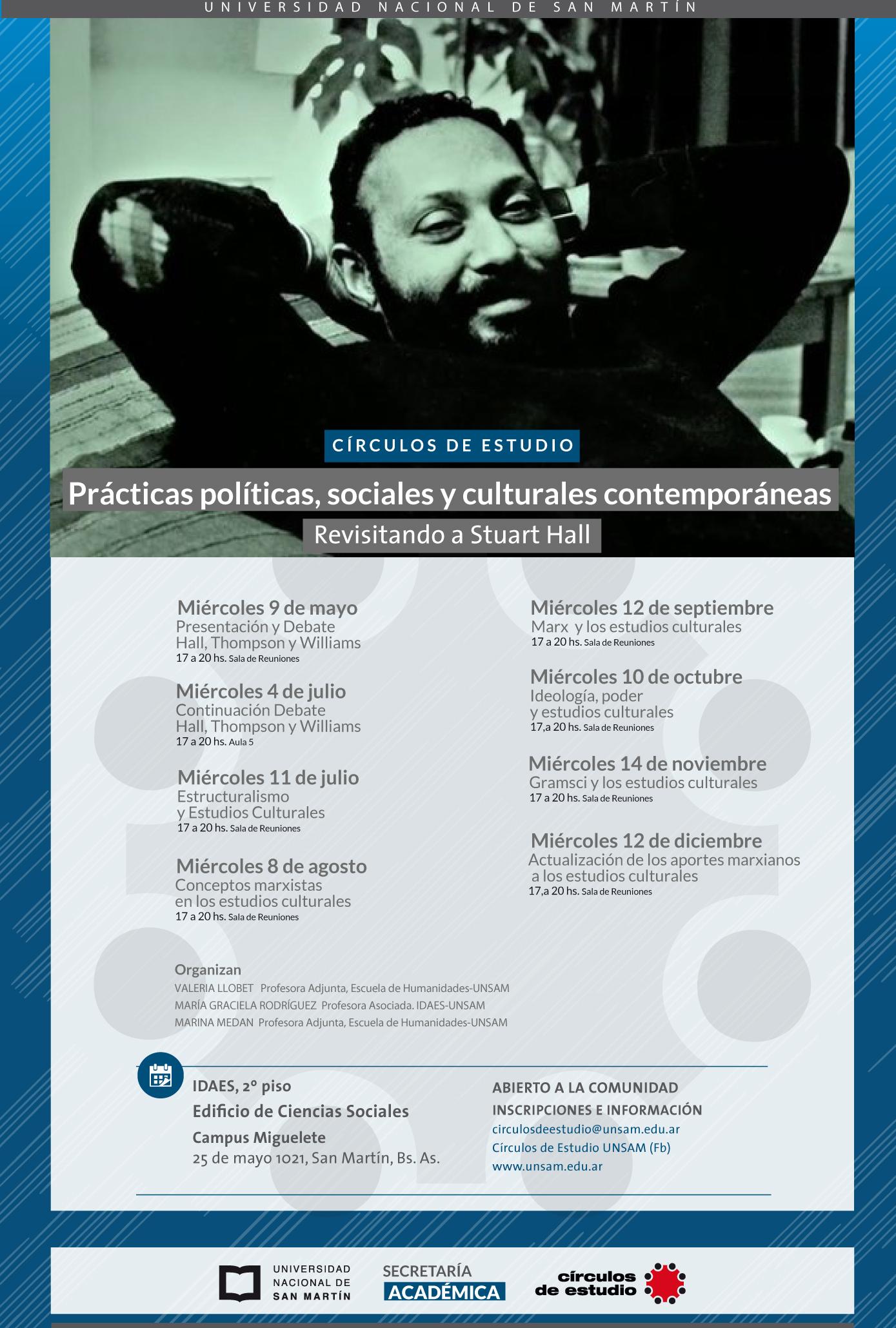afiche practicas politicas sociales y culturales contemporaneas