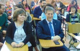 La flamante decana Silvia Bernatené y el rector Carlos Greco