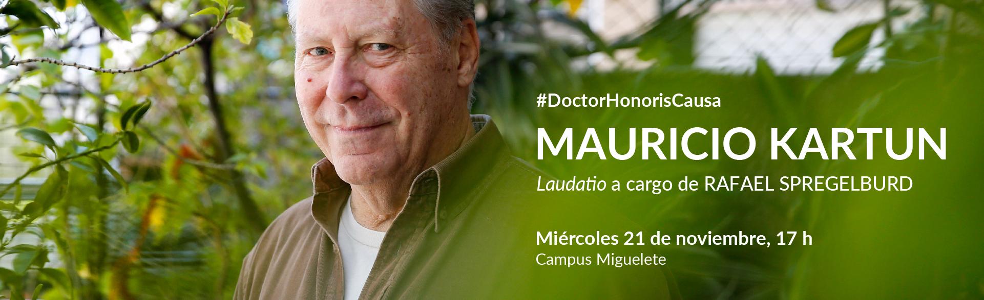 Doctor Honoris Causa Mauricio Kartun