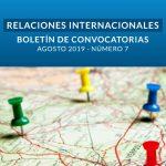 Boletín de Convocatorias Internacionales: Agosto 2019