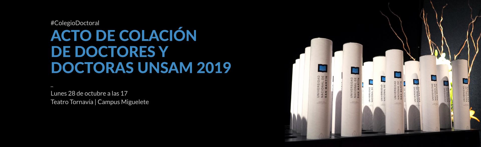 Acto de colación de doctores y doctoras UNSAM 2019