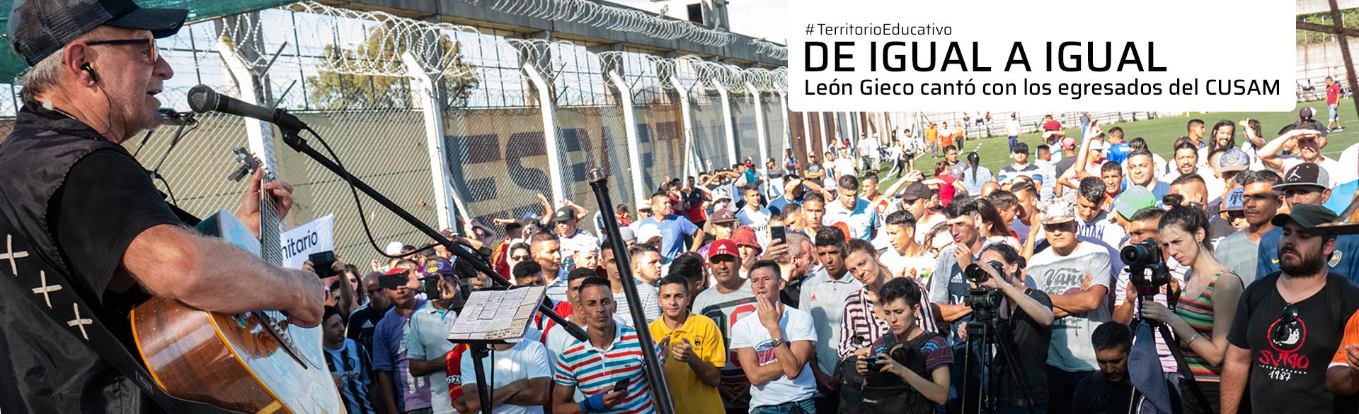 De igual a igual: León Gieco cantó con los egresados del CUSAM