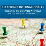 Boletín de Convocatorias Internacionales: Diciembre