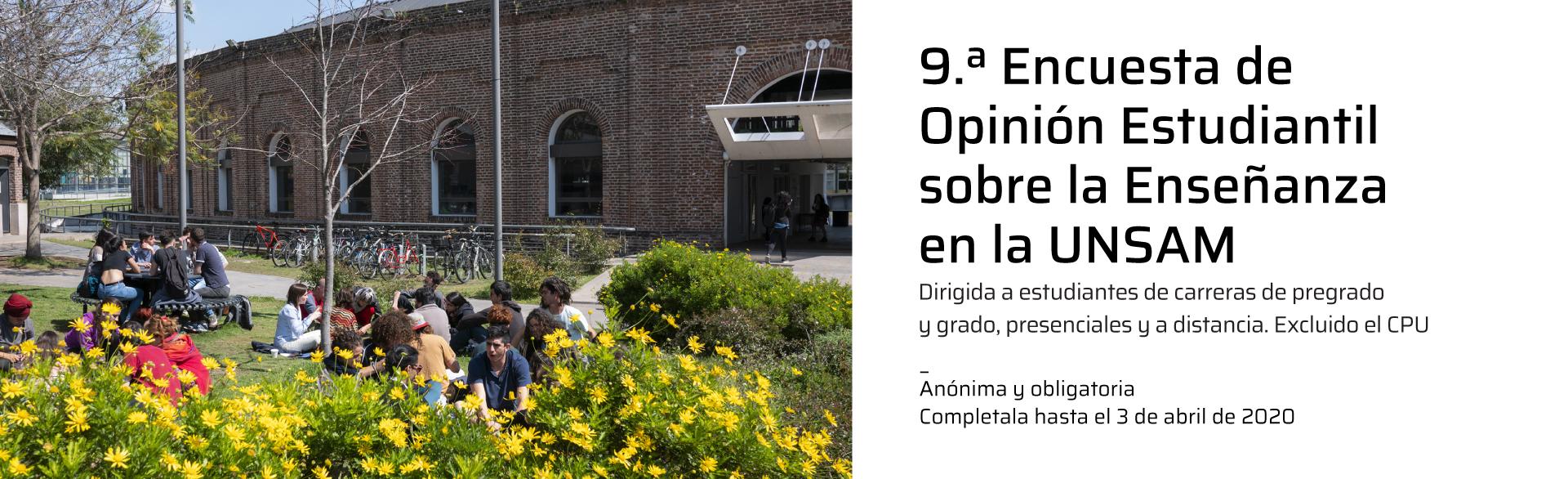 9.ª Encuesta de Opinión Estudiantil
