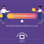 Adscripciones EEyN 2020