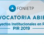 Convocatoria 2019 del FoNIETP para proyectos institucionales en red
