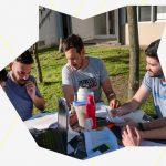Reunión con estudiantes de 1° año de la Escuela de Humanidades