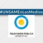 Roberto Candal habló en la <em>TV Pública</em> sobre los barbijos confeccionados por la UNSAM
