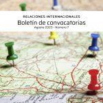 Boletín de convocatorias internacionales: agosto 2020