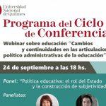 Mónica Pini en webinar de la UNQui