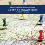 BOLETÍN DE CONVOCATORIAS INTERNACIONALES: ABRIL 2021