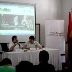 Cristian Alarcón presentó Anfibia en Colombia