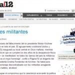Homenaje UNSAM a Néstor Kirchner en Página 12