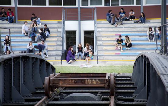 Alumnos en el Campus