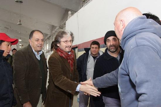 José Barbero y Carlos Ruta con delegados de EMFER