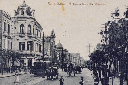 Avenida Callao y Santa Fe (Buenos Aires) en el año 1920.