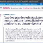 Entrevista al psicoanalista Germán García, en Télam