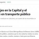 José Barbero consultado sobre transporte, en La Nación
