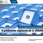 Se realizará la entrega de distintivos institucionales a profesores de la UNSAM