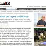 Entrevista a Alberto Etchegoyen sobre el Observatorio Pierre Auger, en Página 12