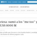 Enrique Dentice consultado sobre los fondos buitres, en Tiempo Argentino