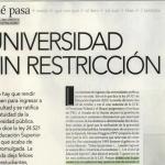 Juan Carlos Tedesco consultado sobre la nueva ley de Educación Superior, en Revista Para Ti