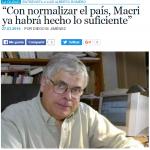 Entrevista a Luis Alberto Romero en La Voz del Pueblo