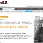Alejandro Ariel González consultado por Página/12 sobre literatura eslava