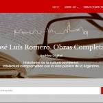 Nuevo sitio digital con las obras completas de José Luis Romero