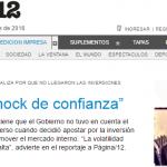 Página/12 entrevistó a Roberto Lampa sobre política económica