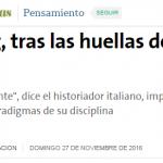 Nota a Carlo Ginzburg en <i>La Nación</i>