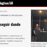 <i>Página/12</i> cubrió un evento en el que expuso Cristian Alarcón