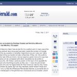 Reseña del libro <i>Clubes argentinos</i> en el <i>Buenos Aires Herald</i>