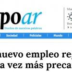 Nota en <i>Tiempo Argentino</i> sobre el último informe del CETyD