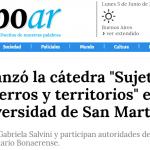 <i>Tiempo Argentino</i> escribió sobre la cátedra Sujetos, Encierros y Territorios