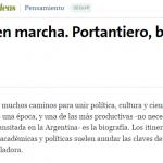 <i>La Nación</i> escribió sobre la biografía que prepara José Casco