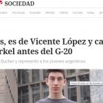 <i>Clarín</i> entrevistó al alumno que representó a la Argentina en la Cumbre Mundial de Jóvenes del G-20