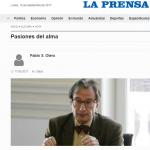 Reseña en <i>La Prensa</i> de <i>Sobre el pensamiento pasivo de Descartes</i>, publicado por UNSAM EDITA