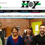 Leandro Roser fue consultado por el diario <i>Hoy</i> sobre un nuevo programa medioambiental