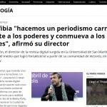 <i>Télam</i> entrevistó a Cristian Alarcón