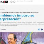 Entrevista a Alejandro Grimson en <i>Página/12</i>