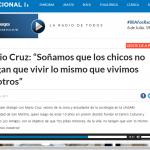 <i>Radio Nacional</i> hablo con Mario Cruz, estudiante de Sociología en el CUSAM