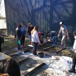 Alumnos de Arquitectura participaron de un taller de dosificación de hormigón y residuos
