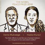 El Premio Nobel de la Paz fue para la lucha contra la violencia sexual